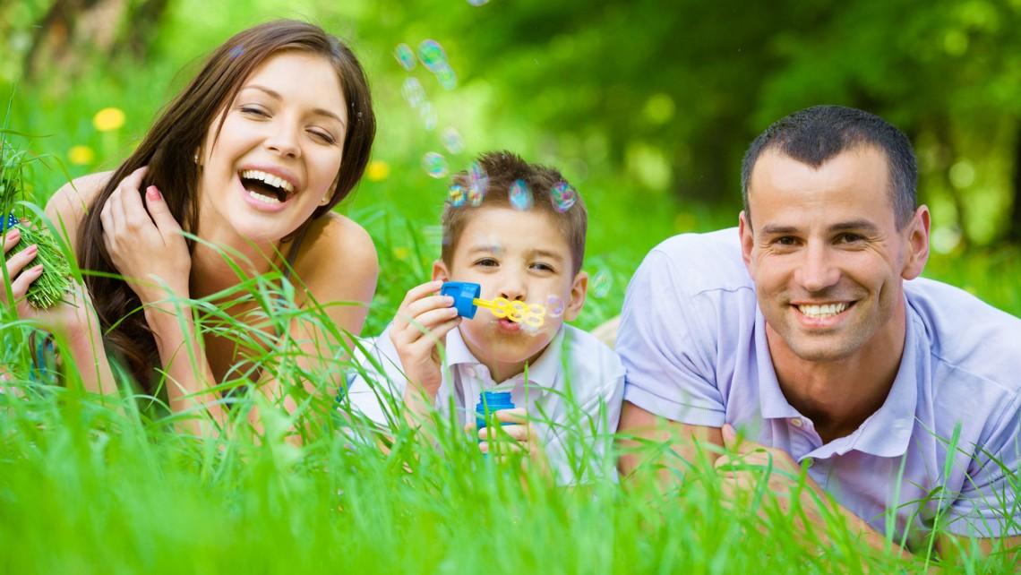 family enjoying life